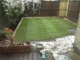 Garden makeover returf after