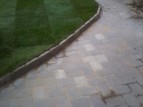 Turfing paving after